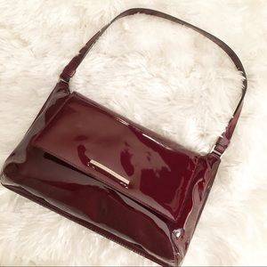 Kenneth Cole Deep Red Patent Leather Bag